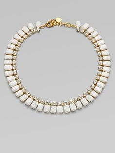 Vionnet - Crystal Accented Bib Necklace