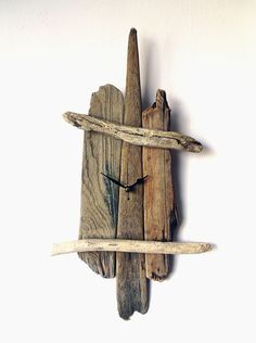 Driftwood Clock Wall Beach Clock Recycled Wood by NaturalClocks, £23.00