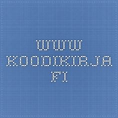 www.koodikirja.fi Learn To Code, Tech Companies, Company Logo, Coding, Math, Learning, School, Ipad, Mathematics