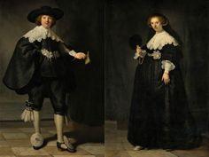 レンブラントの夫婦肖像画 アムステルダム国立美術館で初公開
