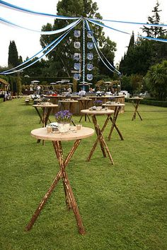 33 Wedding Designs That You Can Create Yourself, Save & Cool! Masquerade Ball Decorations, Garden Party Decorations, Most Beautiful Gardens, Coffee Shop Design, Event Styling, Picnic Table, Wedding Designs, Create Yourself, Bar Tables