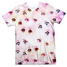 Anime Eyes Tee – Shelfies - Outrageous Clothing