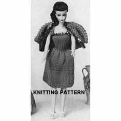 Vintage Knitting Pattern 772, Dolls Clothes, Evening Gown jacket not included: Amazon.co.uk: not known: Books