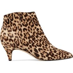 e97bf45bd0ca Sam Edelman Kinzey leopard-print calf hair ankle boots (415 RON) ❤ liked on Polyvore  featuring shoes