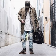 Follow @backtominimal | Tag a friend☄ #BestOfStreetwear Outfit by @mattks ✅ Cap - Represent Clo Jacket - Profound Co Flannel - Oro Los Angeles Tee - FOG Jeans - HM Bag - Represent Clo Shoes - Yeezy Boost 750 _________________________________ Our Fashion Family: @hypedhaven @kostyaapetrov _________________________________ #fashionkiller #outfitoftheday #fashionista #streetstyle #streetwear #instafashion #instastyle #snobshots #lookbook #ootd #menswear #mensfashion #outfitfromabove…