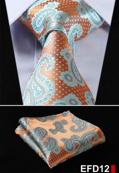 "Dot 3.4"" 100%Silk Wedding Jacquard Woven Men Neckties Pocket Square Handkerchief Set Suit EFD"