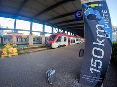 Questo è #Dolomiti #Express, il #treno che in poco più di un'ora raggiunge le #piste da #sci della #SkiareaCampiglio in #ValdiSole direttamente dalla #stazione di #TrentinoTrasporti a lato di #Ferrovie dello Stato a #Trento. Il primo sistema di interscambio #fune #rotaie in #Trentino e in #Italia.
