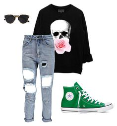 """""""Untitled #24"""" by nicoleaquilina on Polyvore featuring Converse, Christian Dior, women's clothing, women's fashion, women, female, woman, misses and juniors"""