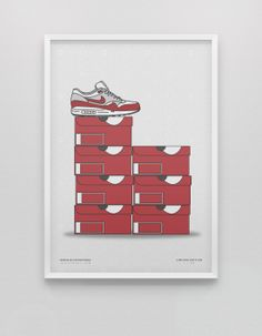 Air Max 1 Og Stack Collection Poster. Available at kickposters.bigcartel.com
