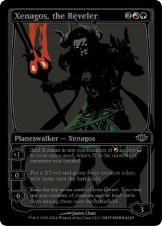 Blacked out Planeswalkers. mtg, magic the gathering.