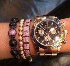 Rolex daytona & Shamballa jewels