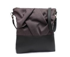 lavender origami crossbody bag by aiko theads