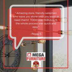 At Mega Furniture we strive to provide the best customer service for over 18 Years!! Thank You to Peggy E. for the kind words! Remember, GET NOW , PAY LATER!! We want to make your home dreams com true. Visit us in store or online today! Mega Furniture, Amazing Store, Good Customer Service, Kind Words, Good Things, Dreams, Make It Yourself, This Or That Questions, Cute Words