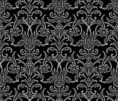 Blackmail Damask ~ Chalk on Canvas fabric by peacoquettedesigns on Spoonflower - custom fabric