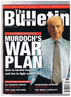 12 hours ago Celebrating the 13th anniv of invasion of Iraq @RupertMurdoch? Did your 'War Plan' turn out as you hoped? #auspol