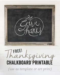 Easy Chalkboard Lettering Tutorial + Free Fall Template!
