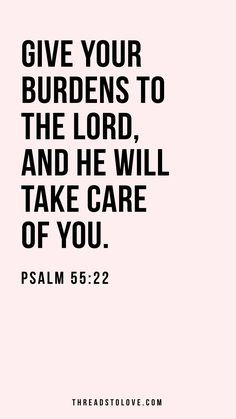 Give Your Burdens to the Lord