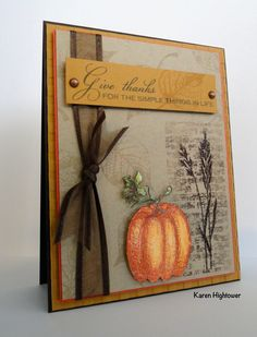 """This was created with the new StampTv kit """"The Simple Things"""". I also used Gina K Designs new Dk. Choc. Embossing Powder for the image on top of the brick wall. I love Gina's EB Powders. You can pick this stuff up at  http://www.shop.ginakdesigns.com"""