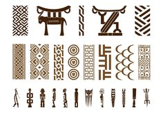 Using Art and Crafts in African Decor African Logo, African Symbols, African Tattoo, African Theme, African Tribes, African Art, Adinkra Symbols, Tribal Symbols, Ethnic Patterns