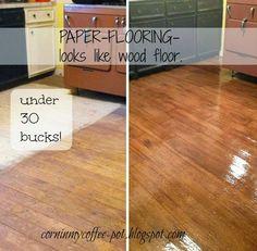 Corn in My Coffee Pot: :: The New Paper-flooring-looks like hardwood!