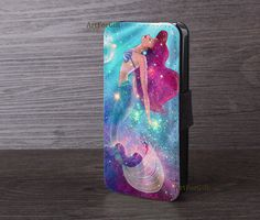 little mermaid, Galaxy Ariel, iPhone 6 case, Leather cover, iPhone 5S case, Samsung S5 case,Note3, Leather Phone Case, iPhone 6 plus-157-11