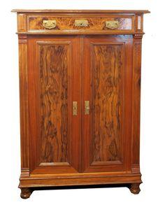 Beautiful VERKAUFT Vertiko Nussbaum Jugendstil Antiquit ten Haus Heymann GmbH