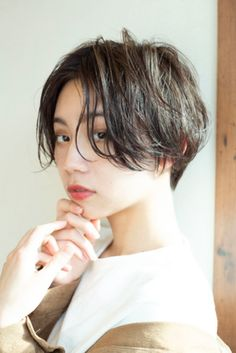 Korean Haircut, Korean Short Hair, Ulzzang Short Hair, Girl Short Hair, Short Hair Cuts, Hair Inspo, Hair Inspiration, Tomboy Haircut, The Garden Of Words