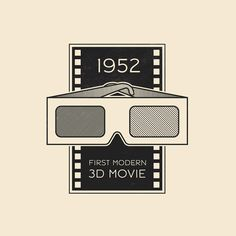 """This Day In History - Nov 26 - 1952 - First modern 3D movie in color is shown. Titled """"Bwana Devil"""" it is about the man-eating lions of Tsavo, a story later retold in the movie """"Ghost In The Darkness.""""⠀ ⠀ --⠀ #thisdayinhistory #todayinhistory #tdih #history #3D #movie #cinema #glasses #film #theater #movies #365project #illustration #adobe #vector #minimalist #minimalism #minimal #simple #texture #instaart #instagood #tsavo #bwanadevil #ghostinthedarkness #1952 #onthisday"""