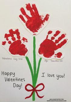 DIY handprint Valentine's Day idea for kids, class party craft Valentine's Day, cute craft ideas for kids