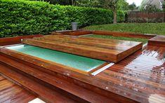 Terrasse coulissante pour piscine : idéale pour les petites surfaces ! #abri #piscine #terrasse #mobile