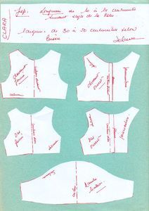 Puff sleeve dress pattern for Les Cheries