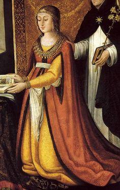 Mencia de Mendoza by Tigre de Sylva, c.1490