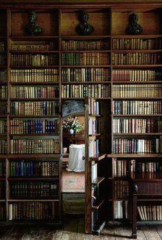 Bookshelves AND a secret room! Love, love, love!
