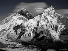 A view of Mount Everest from Kala Pattar in January. Photo and caption by Chris Jarvis