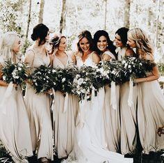 Stunning Neutral Bridesmaid Dresses to Love Hochzeit Wedding Wishes, Wedding Bells, Wedding Flowers, Perfect Wedding, Dream Wedding, Wedding Day, Wedding Hacks, Wedding Parties, Wedding White