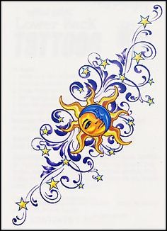 Image Detail for - Temporary Tattoos and Fake Tattoos Sun & Moon Lower Back Tattoos