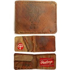 """f04a590533d Salt River Leather on Instagram  """"This  madeinUSA custom bifold wallet from  a  Rawlings  heartofthehide glove has me wishing it was for me."""
