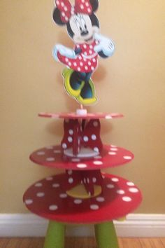 Minnie Mouse Cupcake Stand by SOUTHFLOWER on Etsy Cupcake Stands, Minnie Mouse, Birthday, Party, Etsy, Birthdays, Tiered Cake Stands, Parties, Dirt Bike Birthday