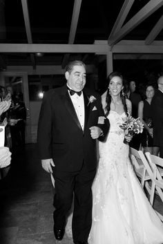 Zach+Christine | Bride and Father Walking Down the Aisle | Black and White Wedding Photography | New York | Olivia Christina Photo