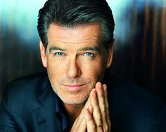 Pierce Brosnan.  Perfect compositional elements and mood.  Striking.