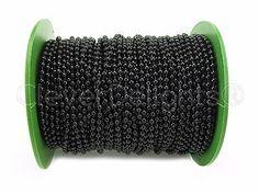 Chains 150069: Ball Chain Roll - 150 Ft - Dark Black Color - 3.2Mm Ball - 50 Meter Bulk Spool -> BUY IT NOW ONLY: $34.99 on eBay!