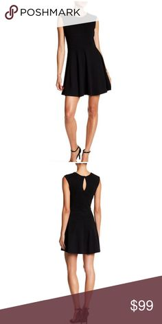 "Papillong Sleeveless Fit and Flare Dress Black Med Details     - Crew neck     - Sleeveless     - Rear keyhole exposure with single button closure     - Approx. 30"" length   Fiber Content     Shell: 95% polyester, 5% spandex     Lining: 100% polyester Care     Hand wash cold Additional Info     Fit: this style fits true to size Papillon Dresses"