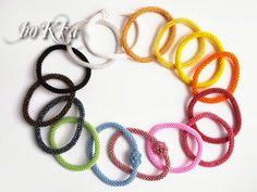 boKra's color wheel bead crochet bracelets.
