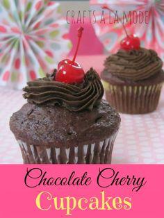 Crafts a la mode : Yummy Chocolate Cherry Cupcakes