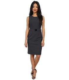 Calvin Klein Calvin Klein Belted Sheath Dress Charcoal Womens Dress for 84.99 at Im in!