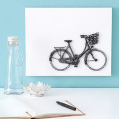 String art bicycle