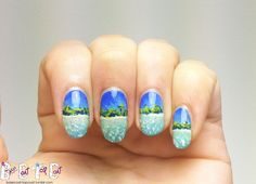 beach #nail #nails #nailart