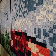 Gezamenlijk gehaakt wandkleed in de Driester in #genemuiden #crochet #crochetersofinstagram #hakenisleuk #hakeniship #hakenverbindt