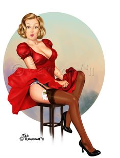 Lady in Red by ted1air.deviantart.com