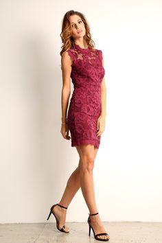 Mildred Fl Lace Mini Dress